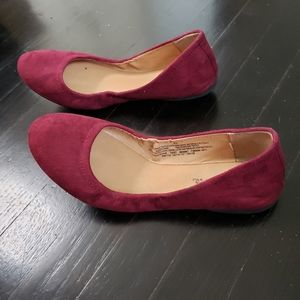 Mossimo Burgundy Ballet Flats - Size 6.5